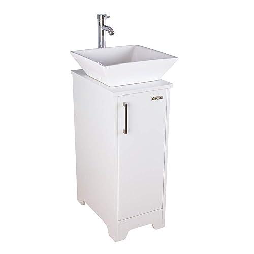 Eclife 14 Bathroom Vanity And Sink, Bathroom Vanity Vessel Sink Combo