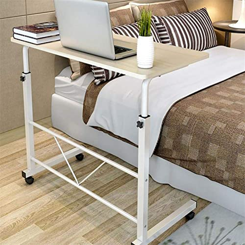 Buy Couch Table Height Adjustable Over Bedside Home Desk Laptop Computer Desk Medical Overbed Side Tables Side Table With 4 Rolling Casters For Learning Reading Working Eating Maple Online In Kenya B07tgc42xl