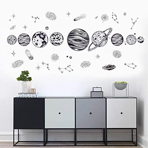 Buy The Solar System Kids Wall Stickers Wall Decals Peel And Stick Removable Wall Stickers For Kids Nursery Bedroom Living Room Black Color The Solar System Online In Kenya B07l86526n