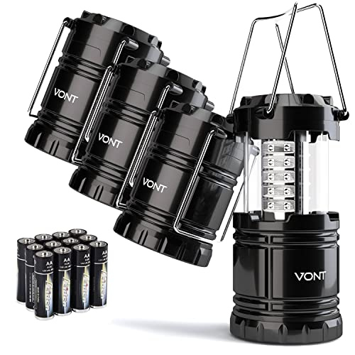 Lightweight Super Bright Water Resistant Camping Lantern-New Ultra Bright LED Lantern Ultra Bright LED Lantern- Collapses 2 Packs Suitable for: Hiking,Camping,Emergencies Hurricanes,Outages