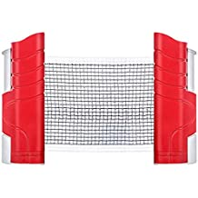 Megavic Retractable Ping Pong Net and Post for Any Table Adjustable Portable Telescopic Table Tennis Net Home Office Indoor Outdoor Entertainment Accessories