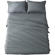 Super Soft 4 Piece Bed Sheet Set Deep Pocket Single /& King Sizes